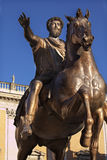 Emperor Marcus Aurelius Bronze Statue Rome Royalty Free Stock Photo