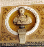 Emperor Marcus Aurelius, Palace of Casa de Pilatos, Seville, Spain Stock Photos