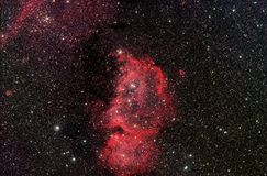 Emperor Nebula ic1848 Royalty Free Stock Images