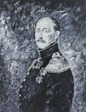 Emperor Nikolay 1, a portrait, oil painting Royalty Free Stock Photos