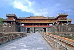 Emperor palace in Hue, Vietnam royalty free stock photo