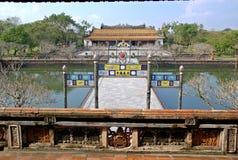 Emperor palace in Hue, Vietnam stock photos