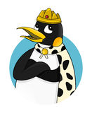 Emperor penguin cartoon Stock Images