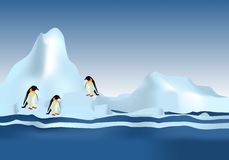 Emperor Penguins, cdr vector Royalty Free Stock Photos