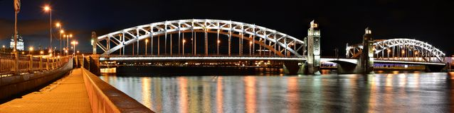 Emperor Peter the Great Bridge Royalty Free Stock Photo