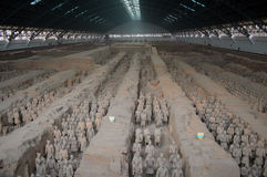 Emperor Qinshihuang Terra-Cotta Warriors. Emperor Qinshihuang Terra-Cot ta Warriors  attracts tourists worldwide every year Royalty Free Stock Photos