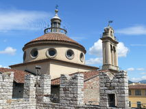 Emperor's Castle and Santa Maria delle Carceri church in Prato Royalty Free Stock Photography
