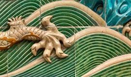Emperors Garden-Dragon Wall021 Royalty Free Stock Photo