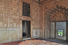Emperor's Palace Interior (2) Red Fort Delhi Stock Photo