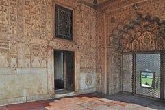 Emperor's Palace Interior (2) Red Fort Delhi Stock Photo