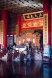 The Emperor s throne the Forbidden City, Beijing stock photos