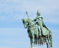 Emperor statue at Fisherman's Bastion, Budapest Stock Photos