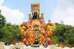 Emperor Statue At Guan Yin Temple, Hatyai Municipal Park, Hatyai, Thailand. Hatyai Municipal Park is a local park located in the southern city of Hatyai in Royalty Free Stock Photography