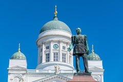 Emperor statue near Cathedral. Helsinki, Finland Royalty Free Stock Image