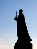Emperor statue silhouette Stock Photos