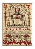 The Emperor. The tarot card Royalty Free Stock Photos