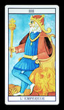 The emperor in the tarot. Photograph of a tarot card representing the emperor vector illustration