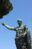 Emperor Trajan sculpture in Rome,Italy Stock Photos