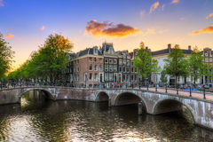 Emperors canal sunset Stock Photography