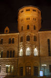 Emperors castle bastille by night in Poznan Stock Photos
