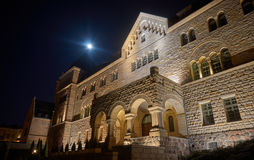 Emperors castle  and moon in night Royalty Free Stock Photo