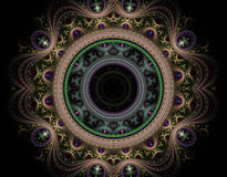 Emperors Plate. A Julian Fractal, created in Apophysis royalty free illustration