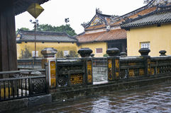 Emperors town Hue. Vietnam. Emperors town in Hue. Point of interest in Vietnam stock image
