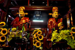 Emperors in a Vietnamese temple Royalty Free Stock Photography