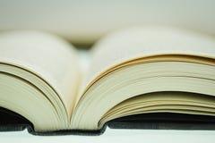 Emperramento de livro - ECU Imagens de Stock