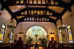 Empfängnis-Kirche altes San Diego Stockfoto