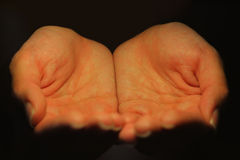 Empfangen der Hände stockfotos