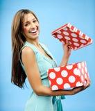 Empfangen Sie ein Geschenk Lizenzfreie Stockfotos
