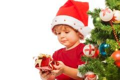 Empfangen von Weihnachtsgeschenken Stockbilder
