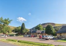 Empfangsbüros, Shop und Tankstelle bei Glen Reenen Camp lizenzfreie stockfotos