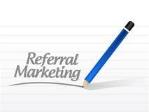 Empfehlungsmarketing-Mitteilung Lizenzfreies Stockbild