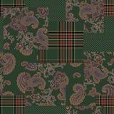Empfindlich, Illustrationsmuster von schönem Paisley stock abbildung