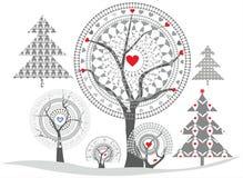 Empfindliche Bäume Lizenzfreie Stockfotos