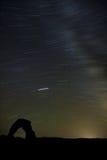 Empfindliche Bögen und Sternspur Stockbilder