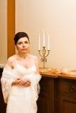 Empfindliche Braut stockfoto