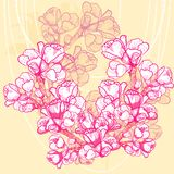 Empfindliche Frühlingsblume des Vektors auf Hintergrund stock abbildung