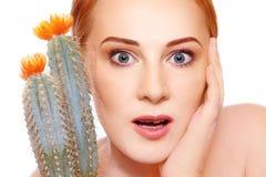 Empfindliche Haut Stockfoto