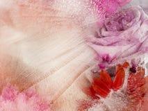 Empfindliche rosa und rote Abstraktion Stockfotos
