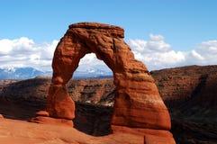 Empfindlicher Bogen in den Bögen Nationalpark, Utah Lizenzfreie Stockfotos
