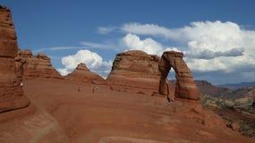 Empfindlicher Bogen ist vermutlich der berühmteste Bogen in der Welt Utha, USA stockfotos