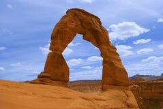 Empfindlicher Bogen in Moab, Utah stockbild