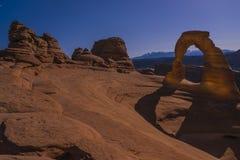 Empfindlicher Bogen nachts, Moab Utah Lizenzfreies Stockfoto