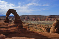 Empfindlicher Bogen wölbt Nationalpark Stockbild