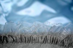 Empfindlicher glänzender materieller Hintergrund des blauen Satins des Zaubers Lizenzfreie Stockfotos