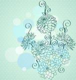 Empfindlicher Hintergrund mit Dahlieblumen. Stockfoto