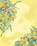 Empfindlicher Hintergrund mit gelben Blumen Lizenzfreie Stockbilder